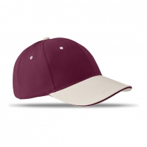 6 panels baseball cap brushed